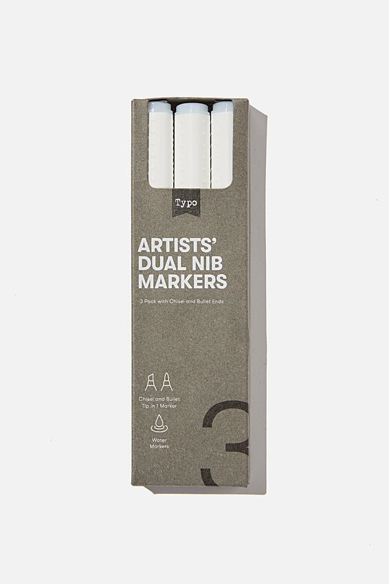 Artists Dual Nib Marker 3Pk, COLOURLESS BLENDER