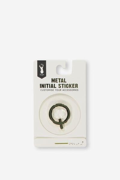 Metal Stickers, GOLD Q