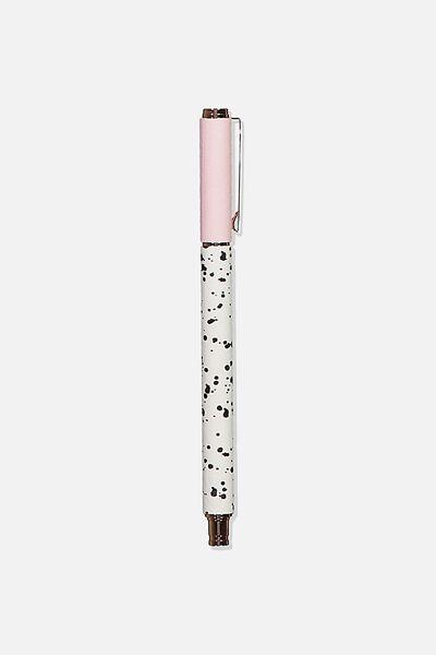 Daily Scribe Pen, LIGHT PINK & SPLATTER