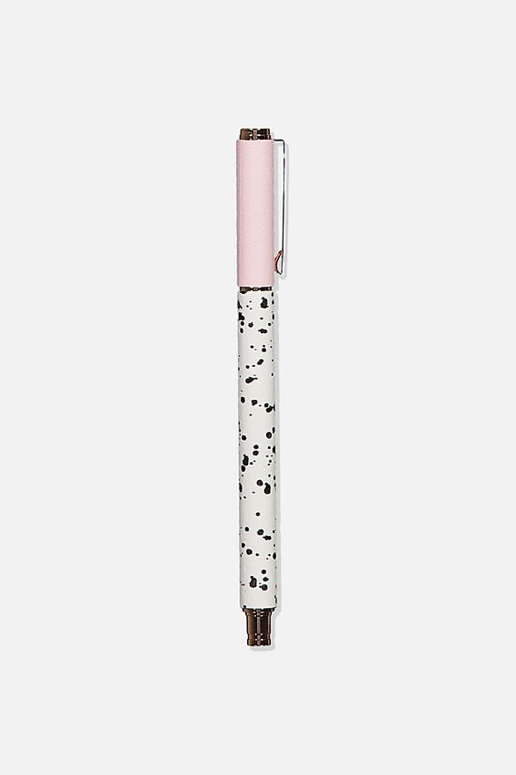 Daily Scribe Pen, LIGHT PINK & SPLATTER