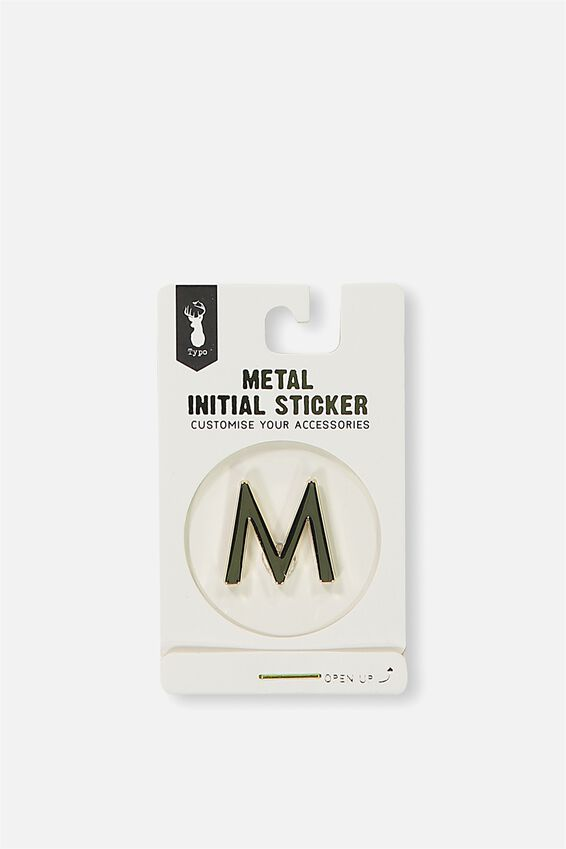 Metal Stickers, GOLD M