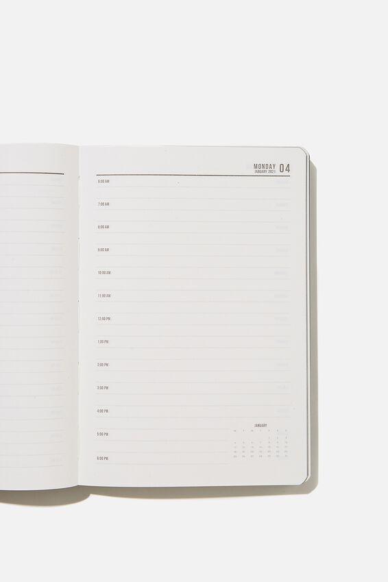 2021 Soft A5 Daily Buffalo Diary, WELSH SLATE