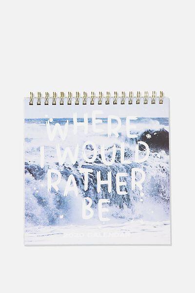 2020 Get A Date Flip Desk Calendar, WATER