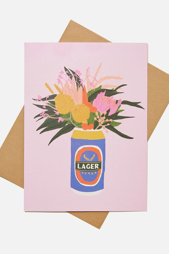 Large Fashion Card, FLORAL NATIVES BUNCH!