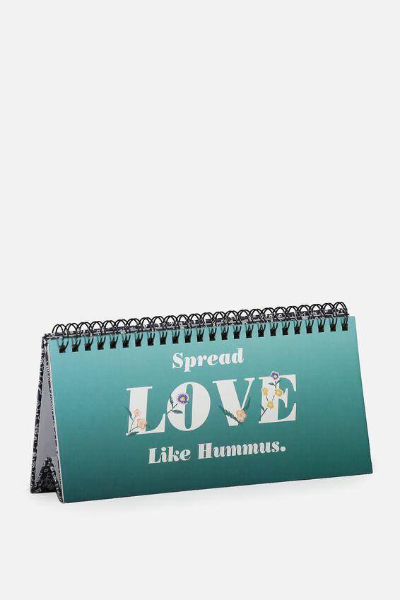 Printed Desk Flip Sign, TEAL OMBRE LOVE