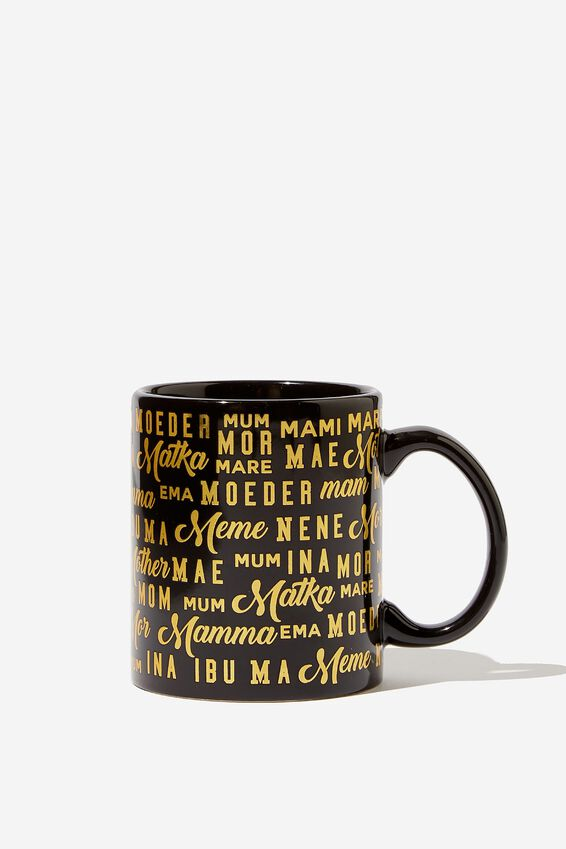 Mothers Day Mug, WORLD MOTHER GOLD