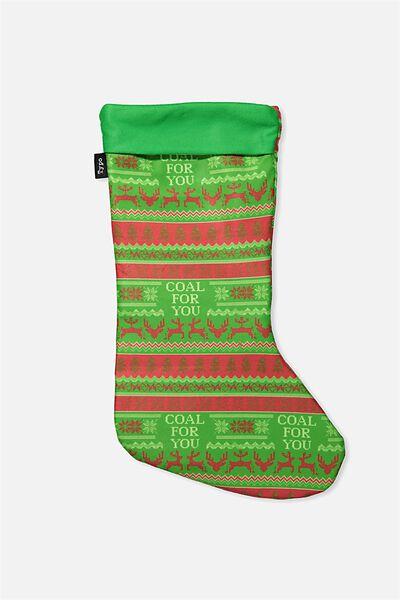 Christmas Stocking, COAL FOR YOU