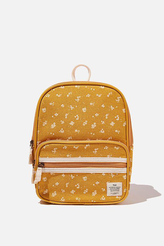 Nano Backpack, DOTTIE FLORAL MUSTARD