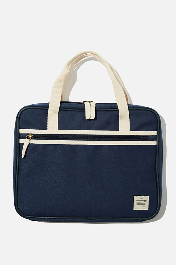 Canvas 13 Inch Laptop Folio, WASHED NAVY
