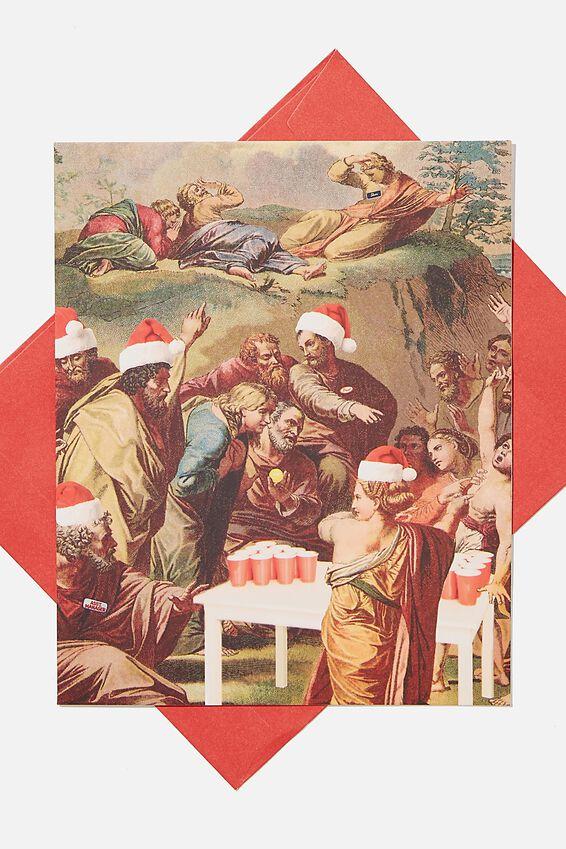 Christmas Card 2020, RENAISSANCE BEER PONG!