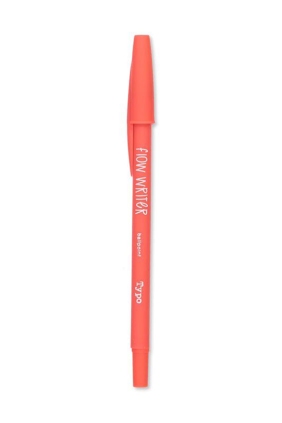 Flow Writer Ballpoint Pen, CORAL