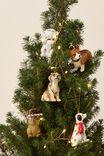 Resin Christmas Ornament, CORGI CROWN