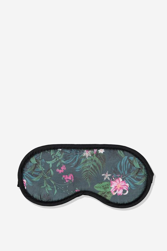 Premium Sleep Eye Mask, JUNGLE FLORAL