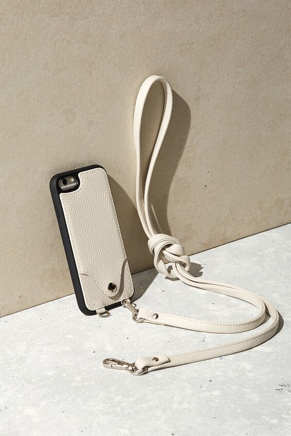 Cross Body Phone Case iPhone 6, 7, 8, WARM GREY