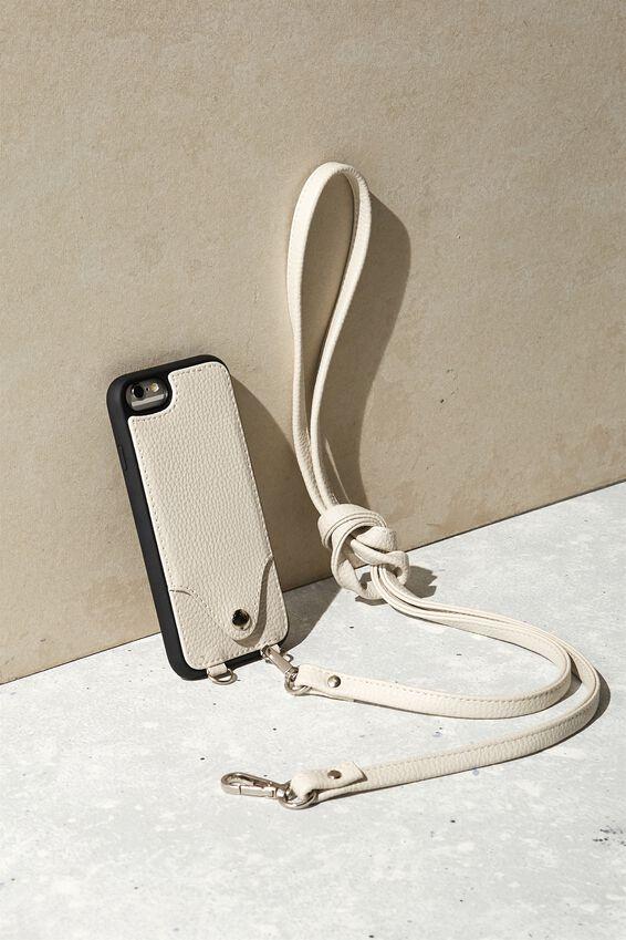 Pu Cross Body Phone Case Iphone 6, 7, 8, WARM GREY