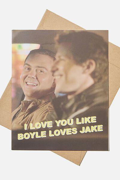 Love Card, LCN UNI BROOKLYN BOYLE LOVES JAKE