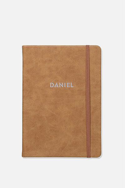 Personalised A5 Buffalo Journal, MID TAN