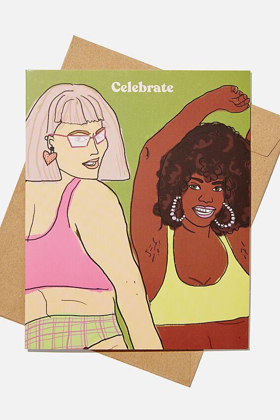 Funny Birthday Card, CELEBRATE GIRLS