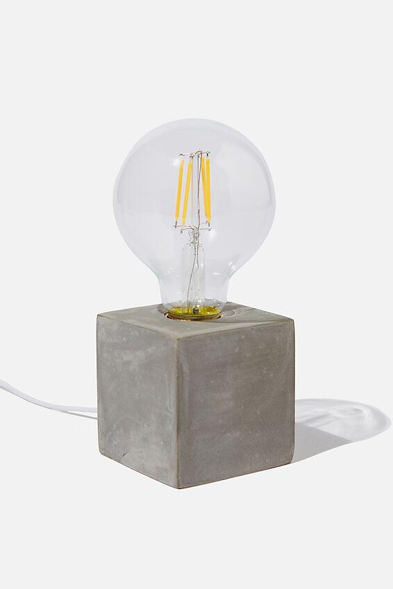 Small Usb Desk Lamp, CEMENT BULB