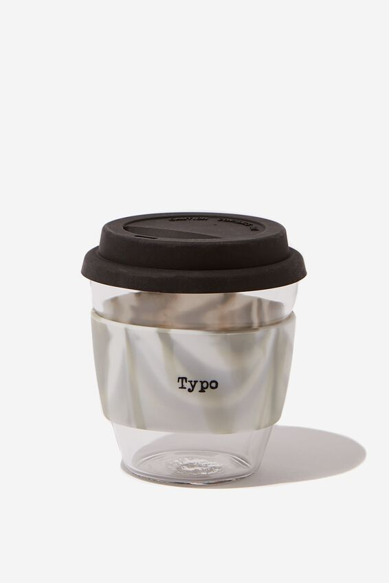 Give A Sip Cup 8Oz, BLACK SWIRL
