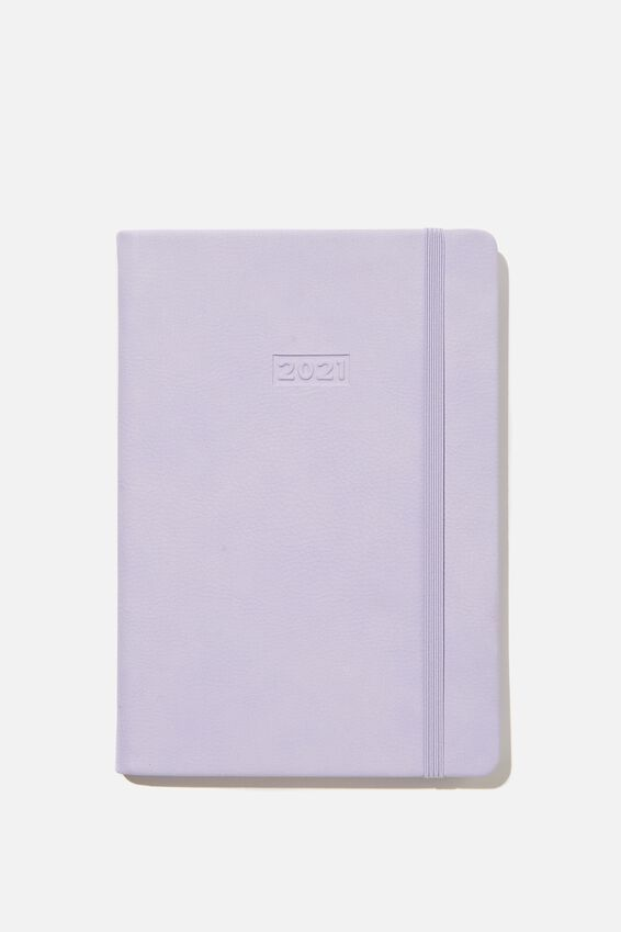 2021 A5 Weekly Buffalo Diary, PALE LILAC