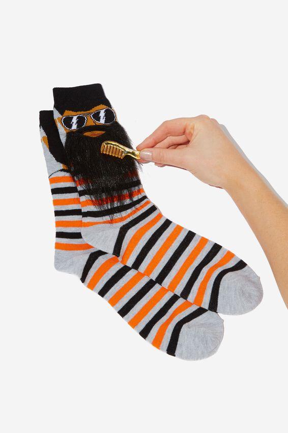 Premium Mens Novelty Socks, BEARD GUY