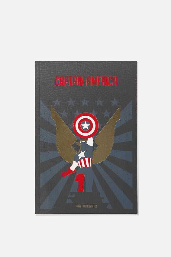 A5 Captain America Textured Notebook, LCN MARVEL CAPTAIN AMERICA