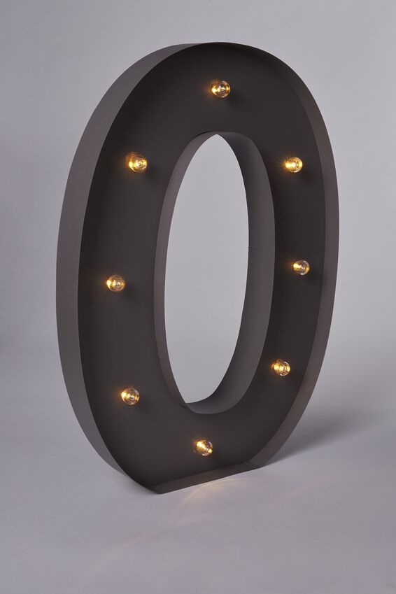 Marquee Letter Lights 70cm, SILVER O