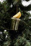 Small Glass Christmas Ornament, SHOT GLASS