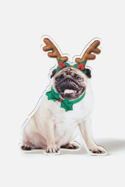 Christmas Tree Topper, CHRISTMAS PUG