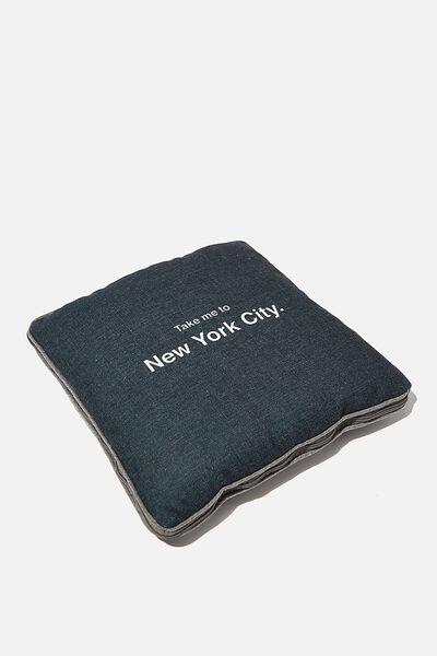 Convertible Cushy Cushion Throw, NY MAP