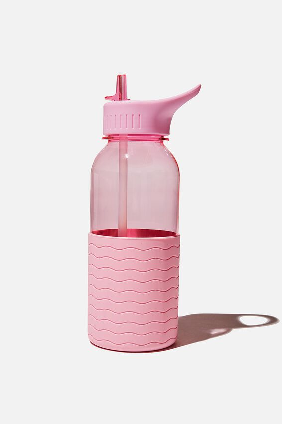Premium Drink It Up Bottle, WAVE PLASTIC PINK