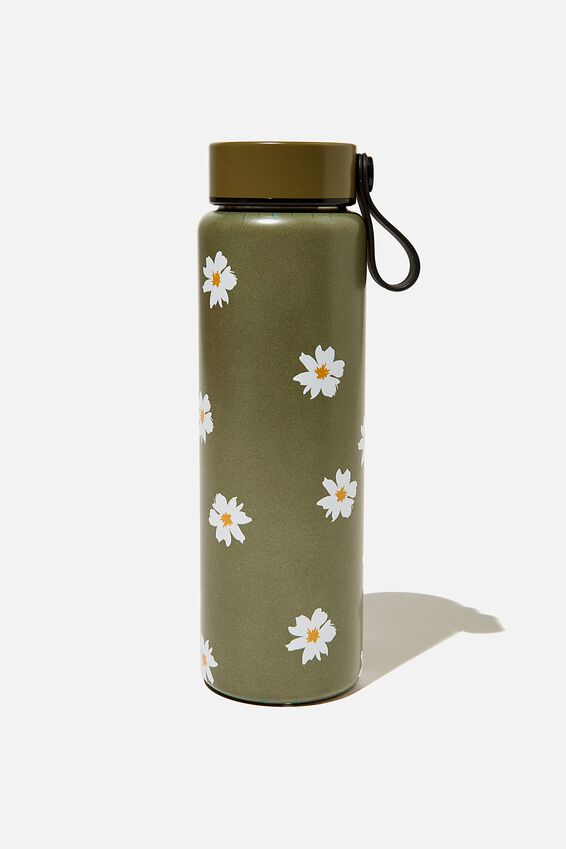 On The Move Metal Drink Bottle 500Ml, DAISY KHAKI