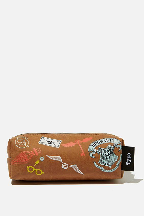 Harry Potter Bailey Pencil Case, LCN WB HPO HARRY POTTER PATCHES
