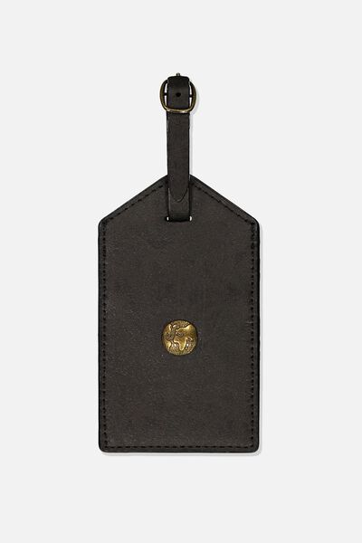 Bag Tag, BLACK WORLD GLOBE