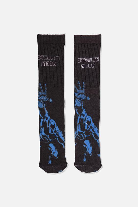 Marvel Mens Novelty Socks, LCN MAR BLACK PANTHER