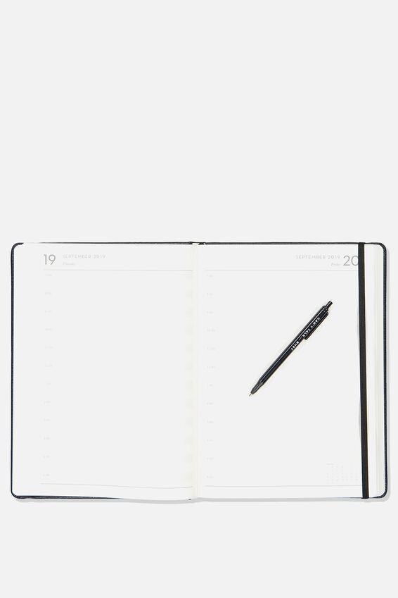 2019 20 A4 Daily Buffalo Diary, BLACK