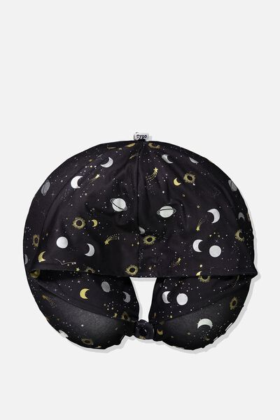 Travel Pillow With Hood, CONSTELLATION PRINT