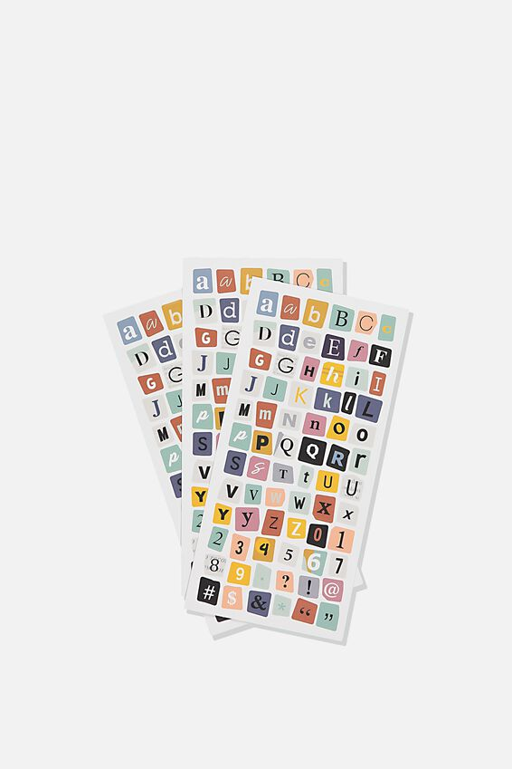 Sticker Pack, RANSOM ALPHABET