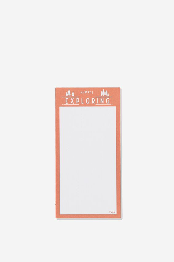 Make A List Note Pad, EXPLORING ORANGE