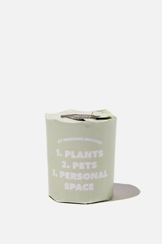 Talk To Me Candle Small, PLANTS,PETS,PERSONAL SPACE