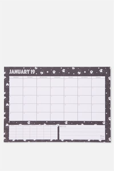 2019 A3 Plan Ahead Planner, LCN MICKEY FACES