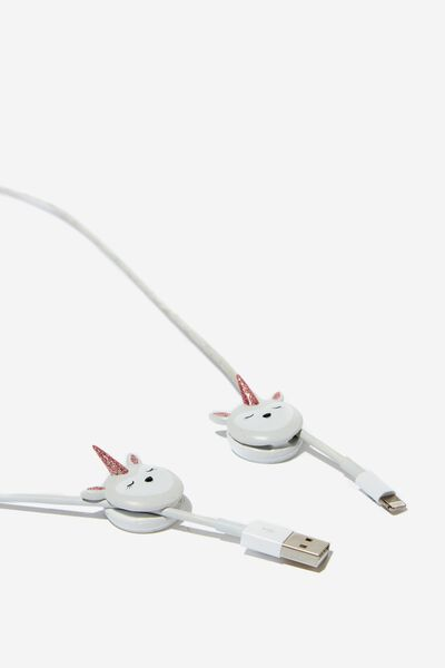 Novelty Cable Pinch 2 Pack, UNICORN