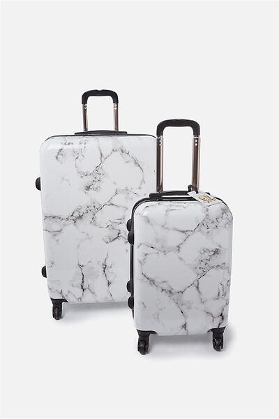 Suitcase Luggage Bundle, MARBLE