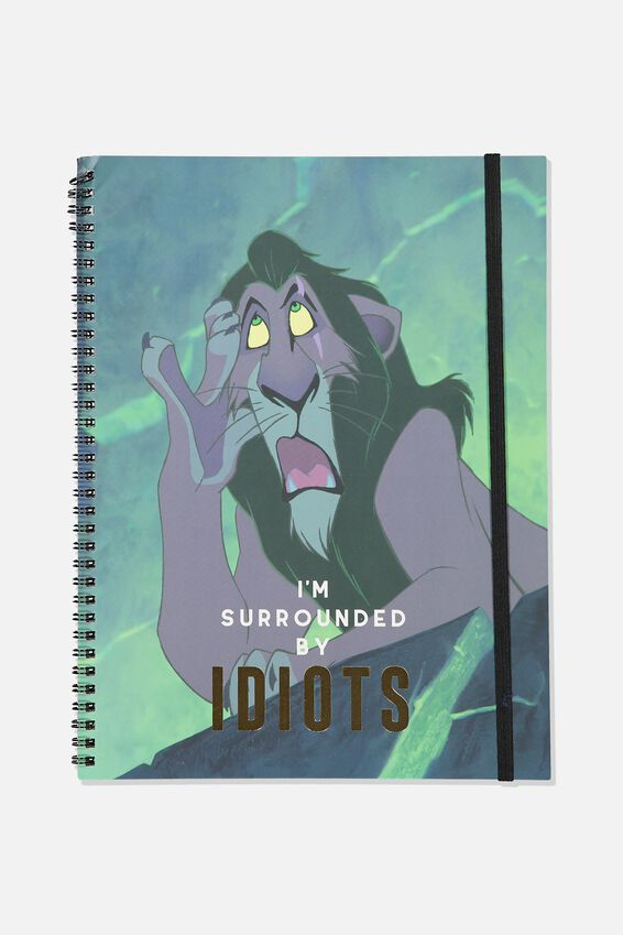A4 Spinout Notebook - 120 Pages, LCN DIS SURROUNDED BY IDIOTS