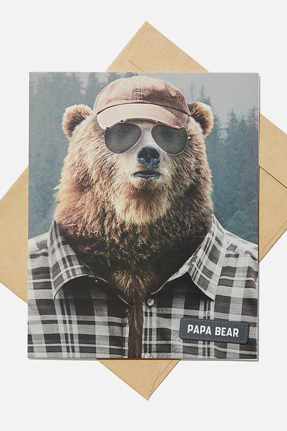 Fathers Day Card 2020, PAPA BEAR