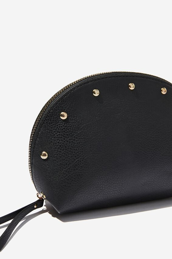 Shell Cosmetic Case, BLACK STUD