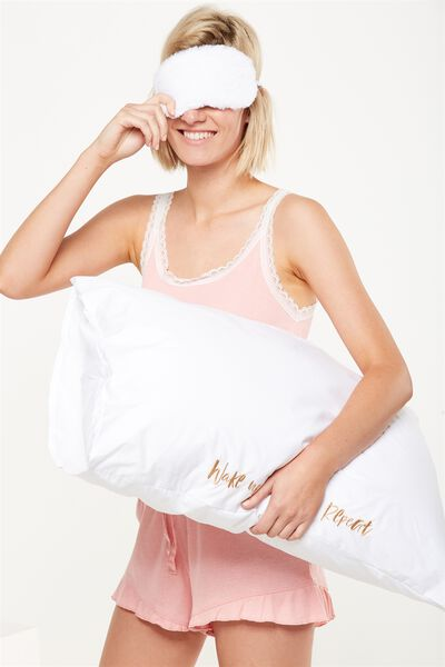 Beauty Pillowcases, WAKE UP
