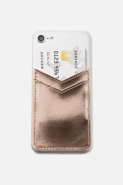 Phone Card Holder Sticker, ROSE GOLD