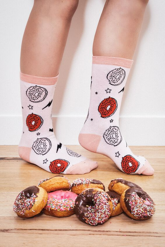 Womens Novelty Socks, DONUTS AND ICECREAM